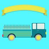 image of truck farm  - Truck carrying bottles - JPG