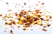 pic of cayenne pepper  - cayenne pepper on white background ingredients macro - JPG