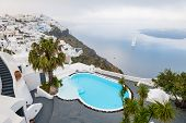 pic of greek-architecture  - Luxury hotel with sea view - JPG