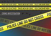 image of bullet  - Vector set of Police line do not cross tape - JPG
