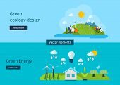 foto of environment-friendly  - Flat design vector concept illustration with icons of  of ecology - JPG