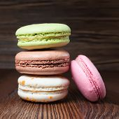 stock photo of french pastry  - Colorful macaroons - JPG