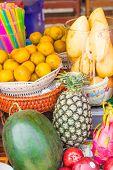 stock photo of south east asia  - Exotic fruits and vegetables in South East Asia - JPG