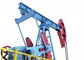 picture of oil derrick  - Oil pump close - JPG