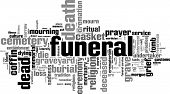 stock photo of urn funeral  - Funeral word cloud concept - JPG