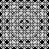 stock photo of grayscale  - abstract concentric grayscale seamless pattern in grayscale - JPG