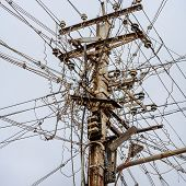 picture of messy  - Messy electrical cables in india - JPG