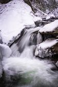Постер, плакат: Smoky Mountain Winter Stream 2