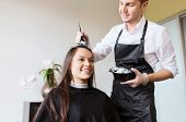 pic of hair dye  - beauty and people concept  - JPG