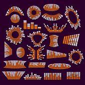 foto of equality  - Big set equalizer elements set separated vector - JPG