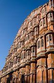 stock photo of palace  - Hawa Mahal palace or Palace of the Winds in Jaipur Rajasthan India - JPG