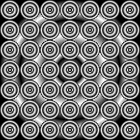 image of grayscale  - abstract concentric grayscale seamless pattern in grayscale - JPG