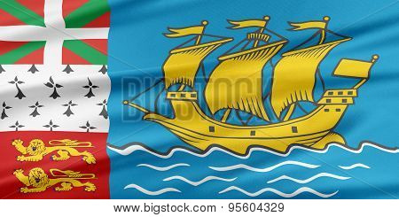 Saint-pierre And Miquelon Flag.