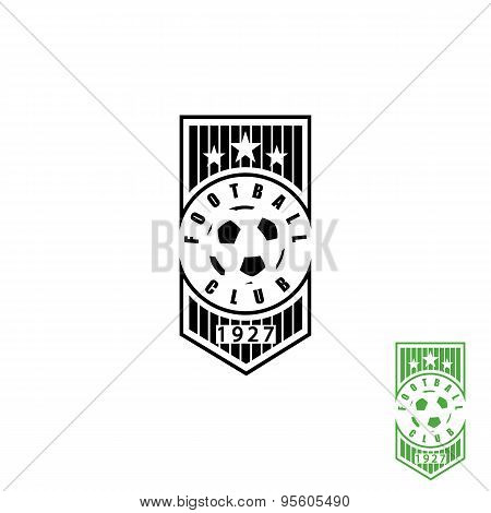 Football Club Emblem, Mockup Soccer Sport Logo, Ball Sign