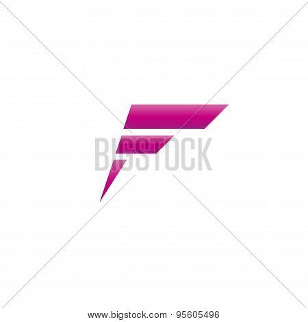 Purple Letter F Logo, Mockup Of Graphic Design