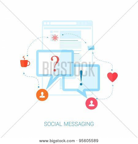 Social network messaging and personal communication