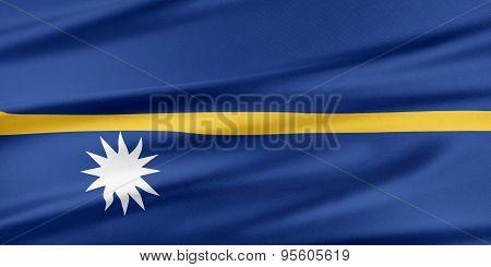 Nauru Flag.
