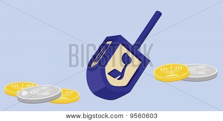 Hanukkah Dreidel with Gelt