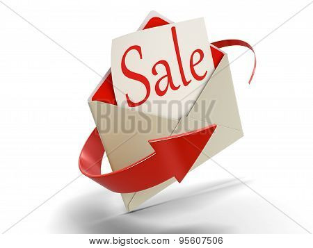 Letter sale (clipping path included)