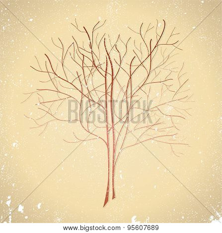 Abstract Brown Tree.
