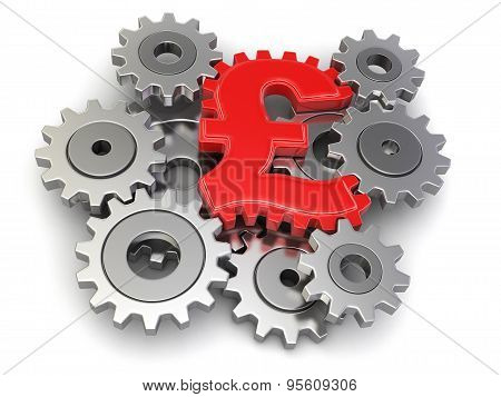 Cogwheel pound (clipping path included)