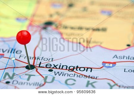 Lexington pinned on a map of USA