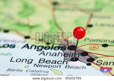 Anaheim pinned on a map of USA