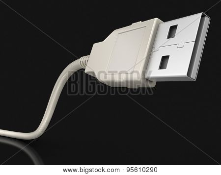 USB Cable (clipping path included)