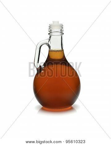 vinegar glass on white background