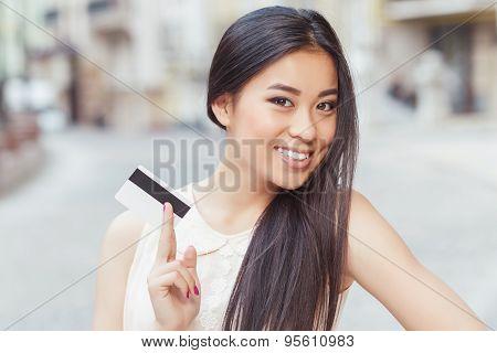 Asian girl on shopping