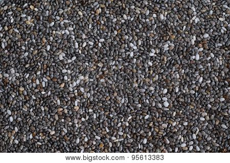 Background Made From Chia Seeds