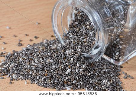 Pouring Chia Seeds