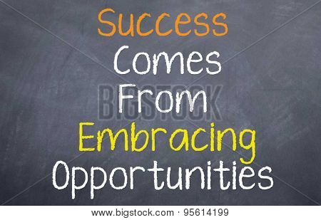 Success Comes From...
