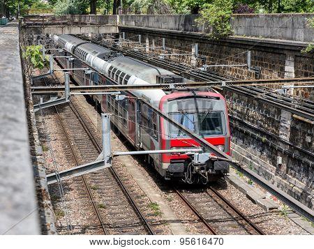 Subway Train Paris, France