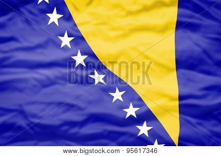 Bosnia and Herzegovina flag.
