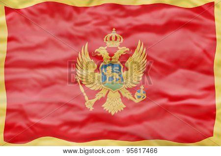 Montenegro flag.