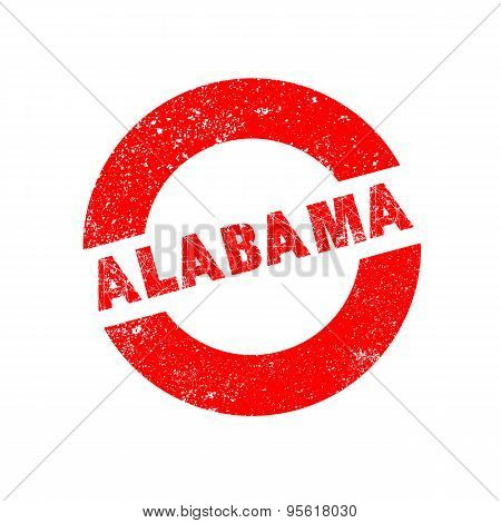 Rubber Ink Stamp Alabama