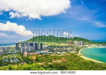Overview of Sanya city, Hainan Province, China