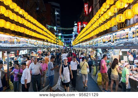 Keelung Miaokou night market. Taiwan