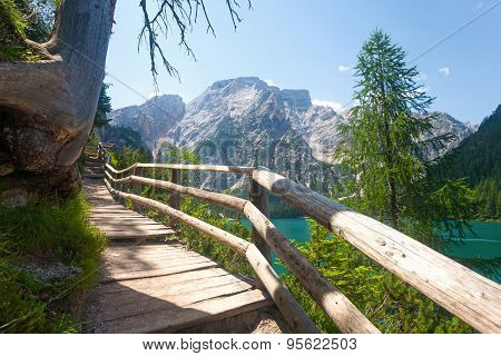 Hiking Trail In The Dolomites