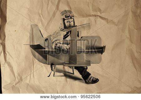 Boy And Biplane
