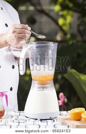 Chef Pouring Salt