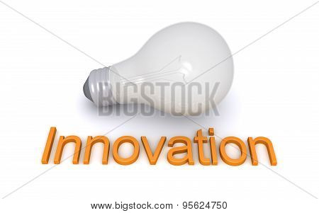 Light Bulb And Innovation Word