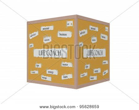Life Coach 3D Corkboard Word Concept