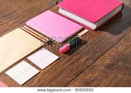 Pink Tools For Paperwork