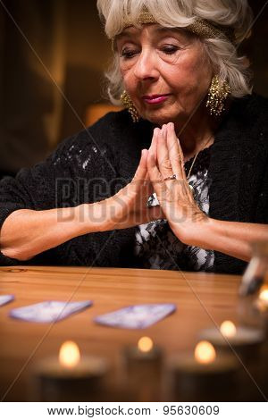 Magic Woman During Spiritualistic Seance