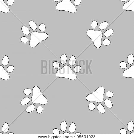 Paw pattern for animal and textile
