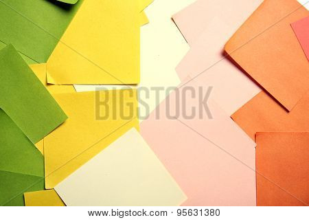 Colorful paper stickers