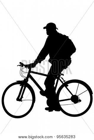 Sport bike on white background