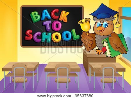 Owl teacher theme image 3 - eps10 vector illustration.